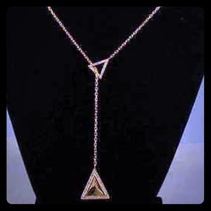 Jewelry - Michael Kors Pave Triangle Necklace